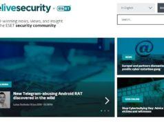 WeLiveSecurity.com, kurumsal güvenlik blogu