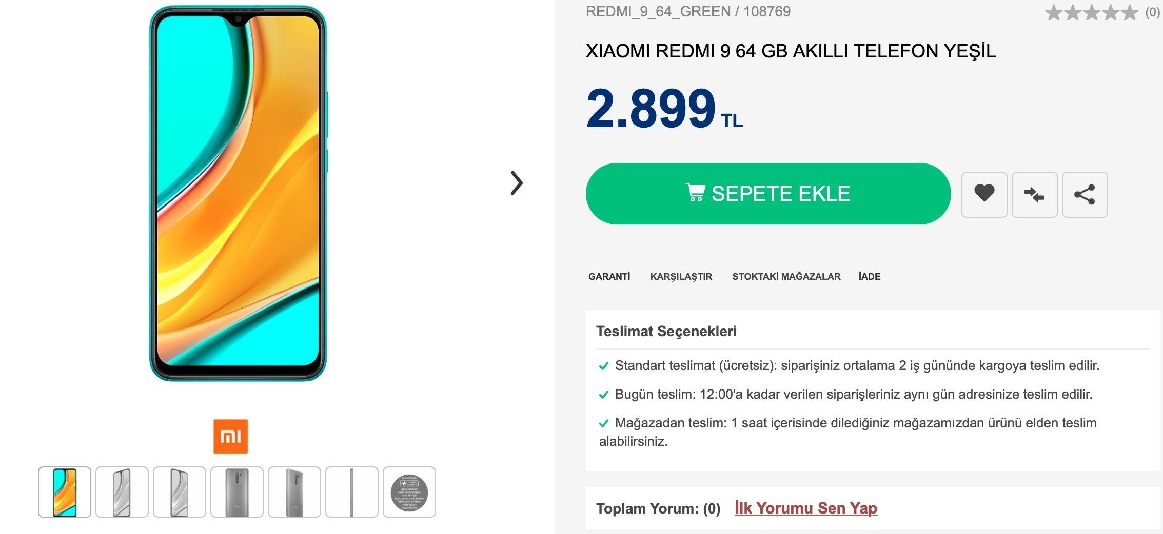Redmi 9 Türkiye
