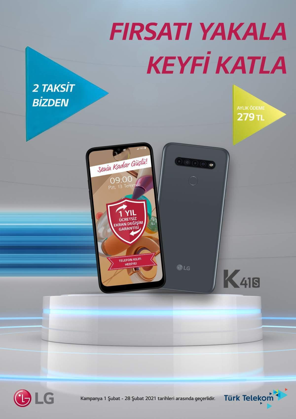 LG K41s Türk telekom kampanya