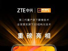 ZTE ekran altı kamera teknolojisi